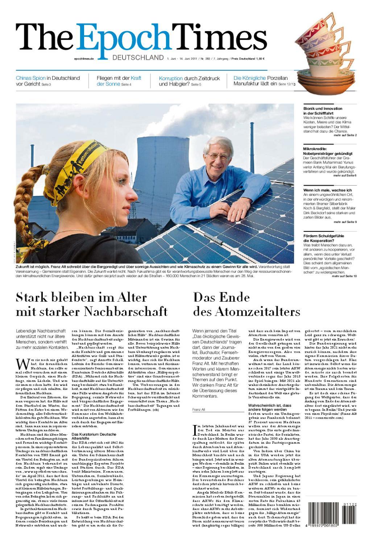 The Epoch Times Deutschland 01-06-2011 by Thomas Kalmund - issuu