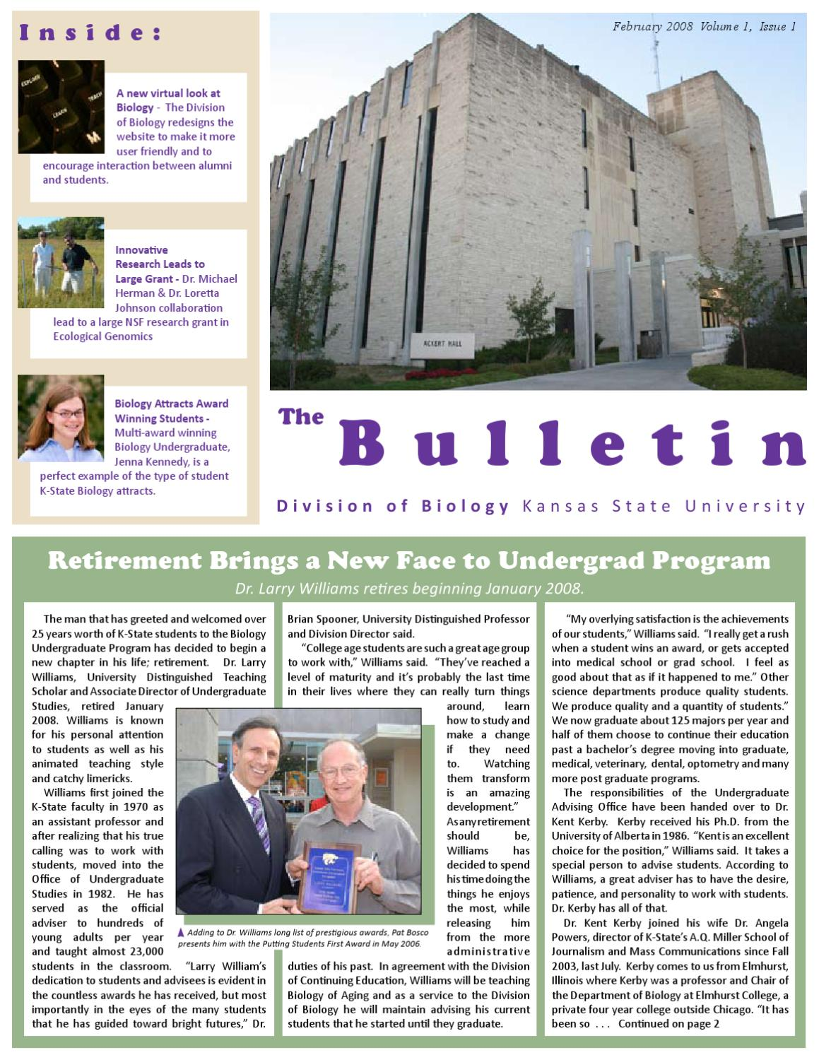 The Biology Bulletin - Spring 2008 by Division of Biology at