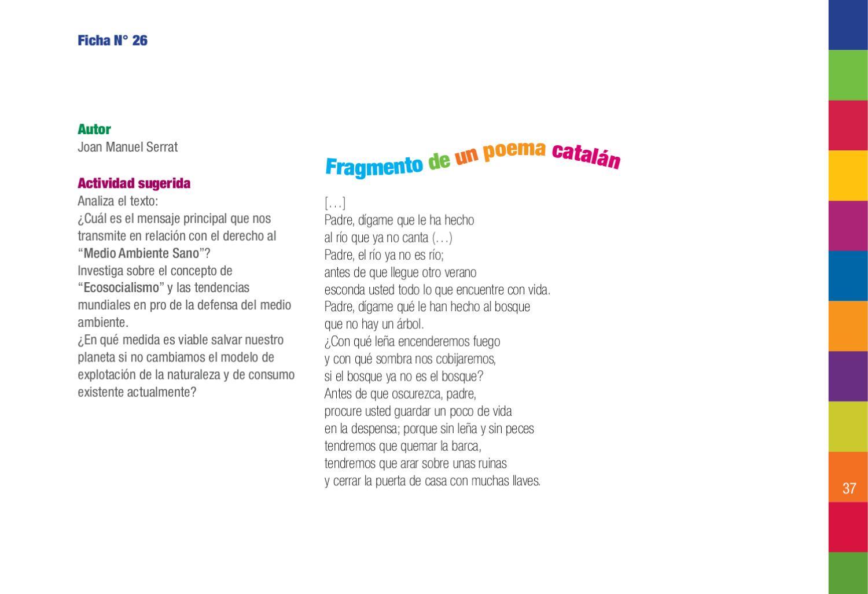 Fichero De Poemas Y Canciones Para La Educación En Derechos