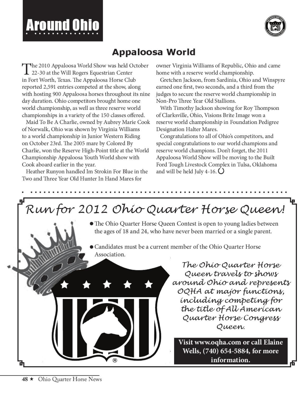 Ohio Quarter Horse News January/February 2011 by Ohio