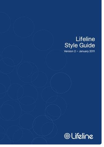 Lifeline Style Guide By Trevor Hickman Issuu