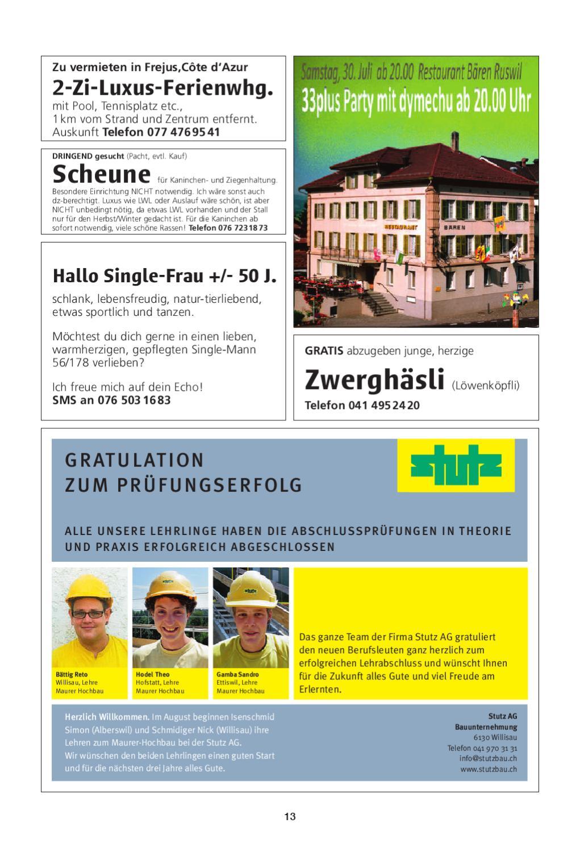 In Flirt Kostenlos Luzern - Free Dating Muri Bei Bern