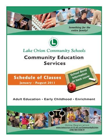 Adult community education lake orion