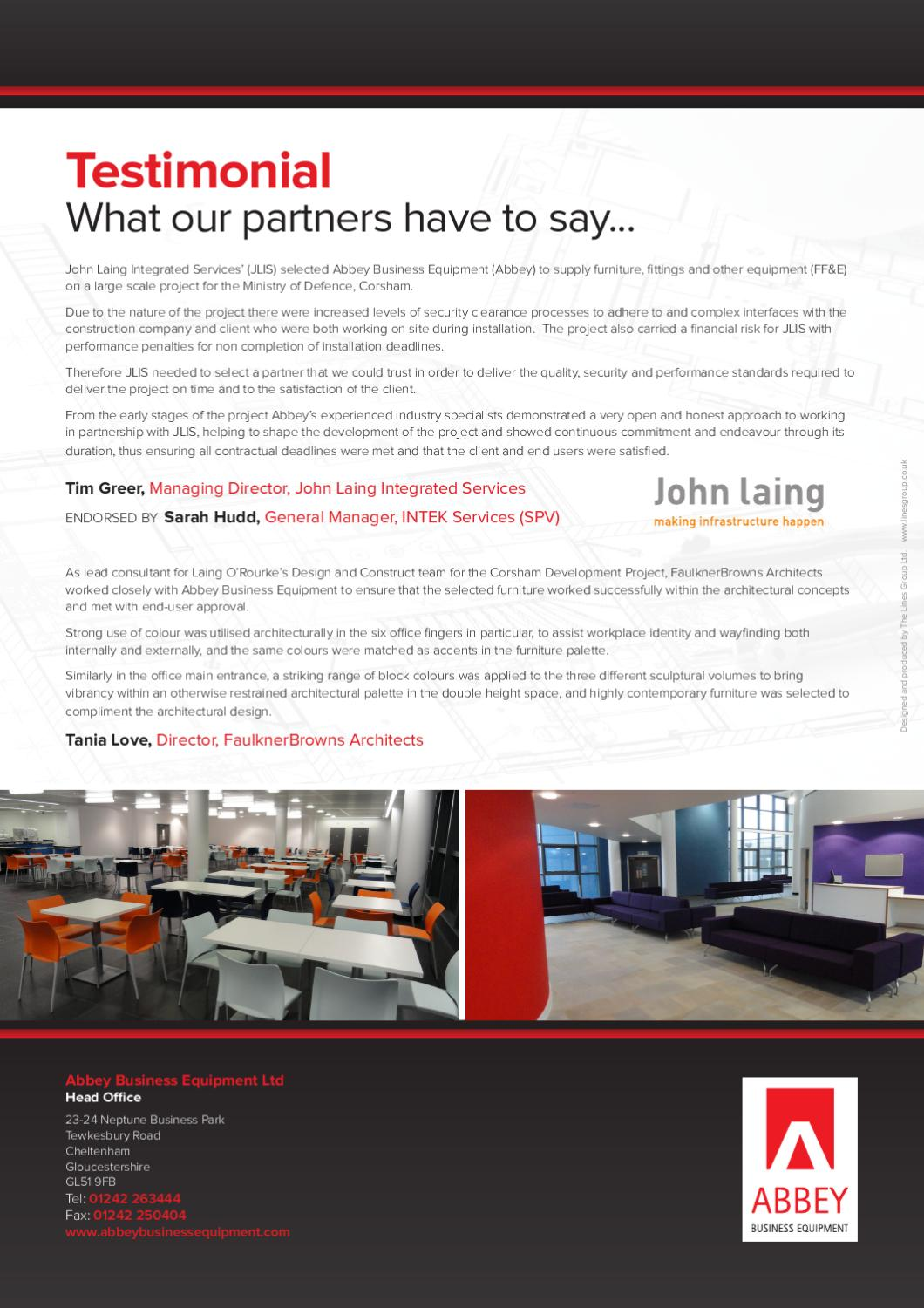 FF&E Case Study for MOD Corsham by abbey business - issuu