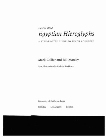 Learn to read egyptian hieroglyphs mark collier by ioannis marios page 1 fandeluxe Choice Image