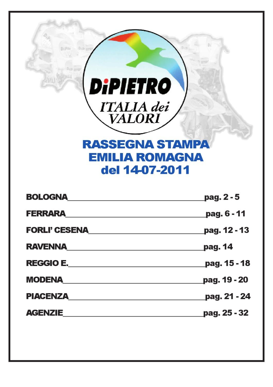 Rassegna Del 14 07 2011 By Raffaele Brogna Issuu