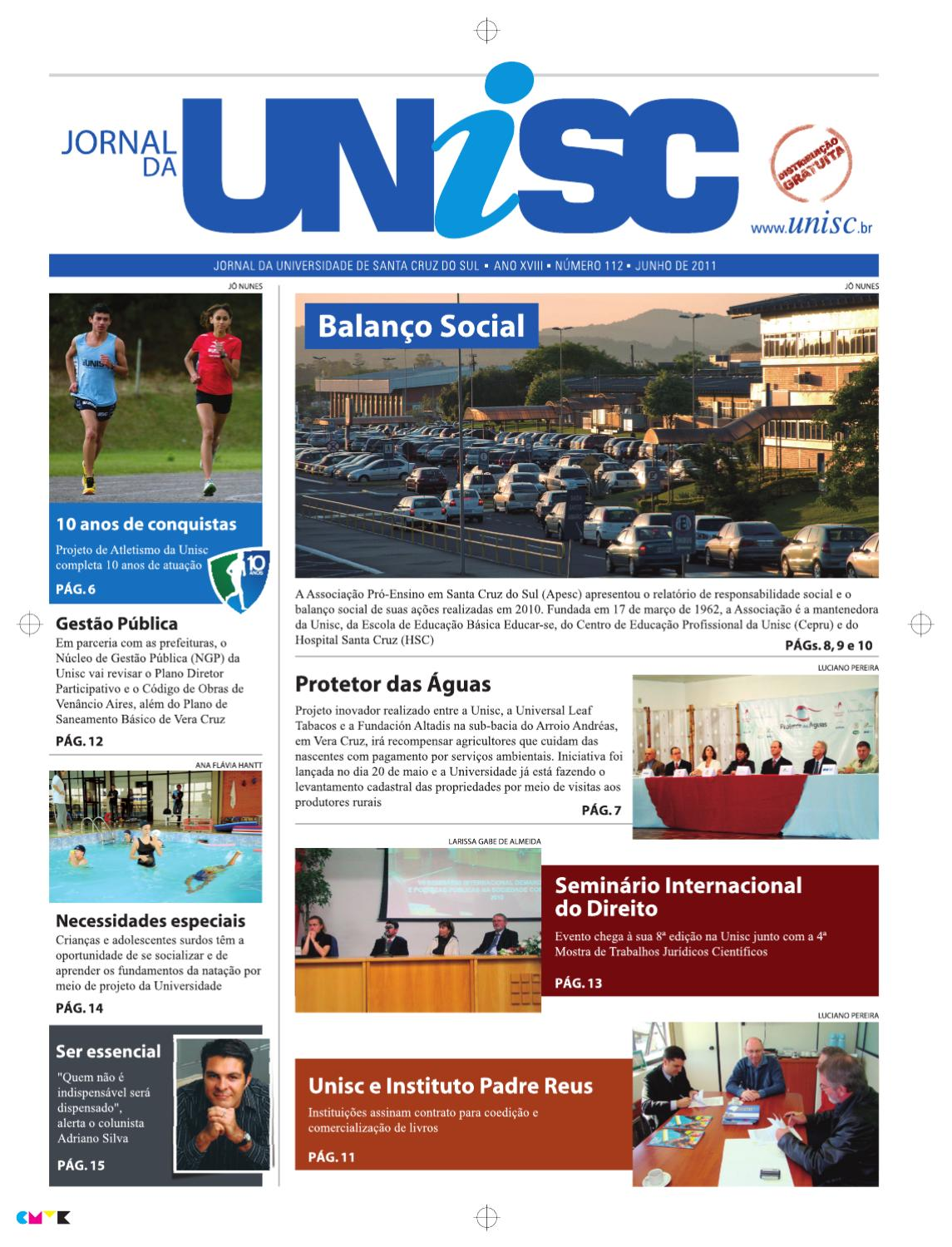 Jornal da Unisc by UNISC Santa Cruz do Sul - issuu 982f5ef01328f