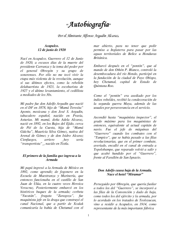 6943a1083 AUTO BIOGRAFIA DEL ALMIRANTE ALFONSO ARGUDIN by MUSEO VIRTUALDEACAPULCO -  issuu
