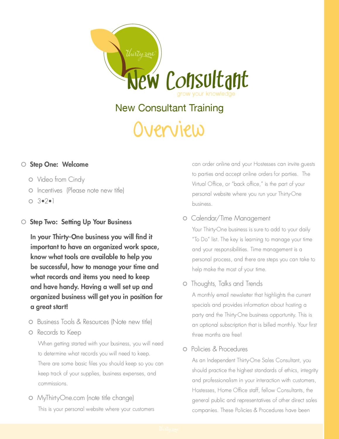new consultant training overview by gina spandet issuu