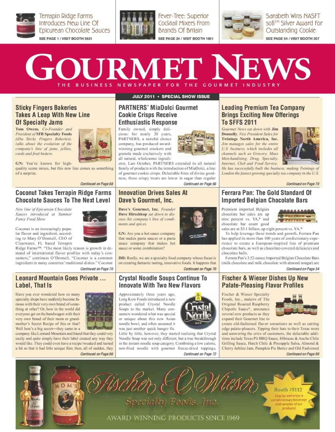 Gourmet News - Special Issue at the Summer Fancy Food Show