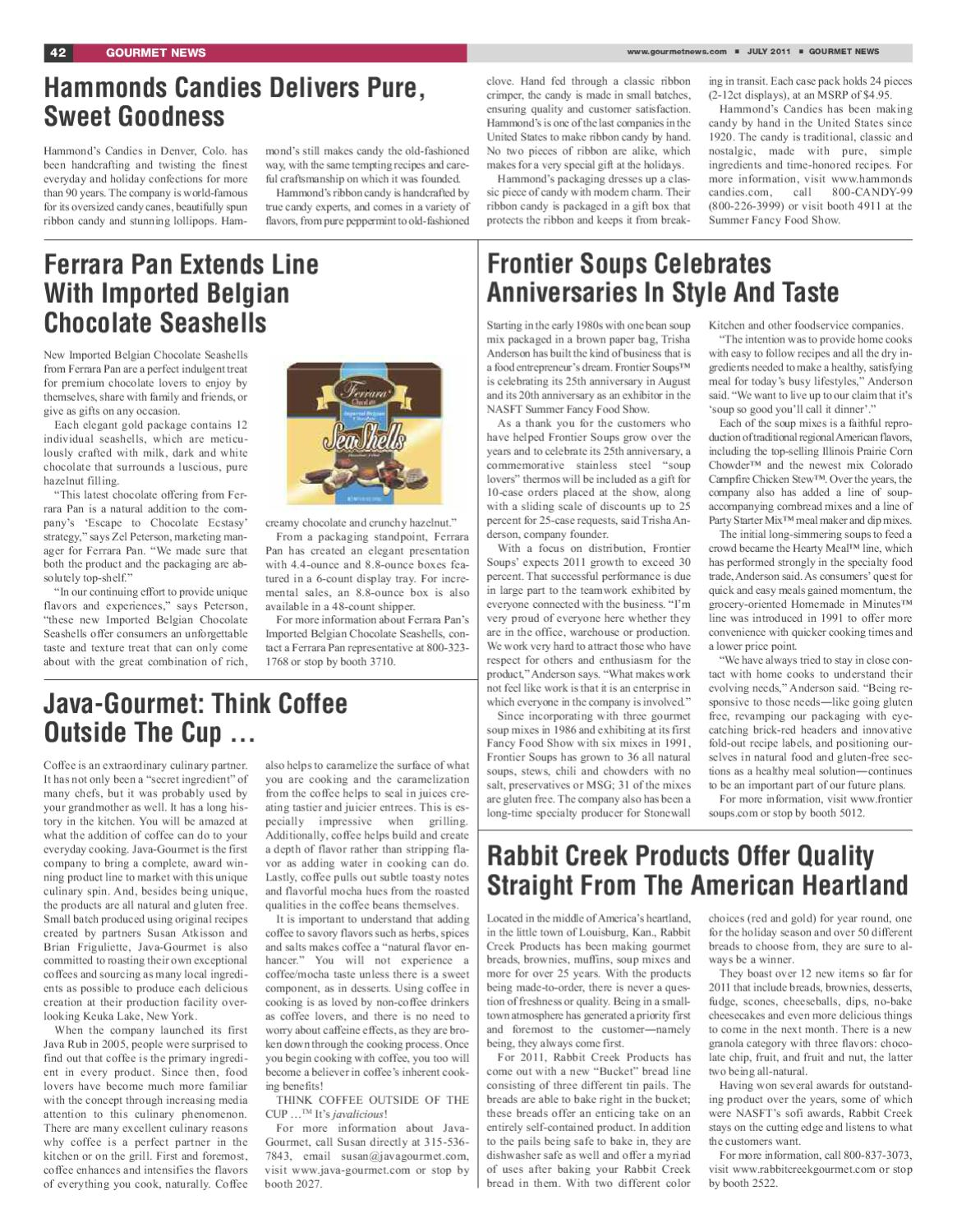Gourmet News - Special Issue at the Summer Fancy Food Show 2011 by