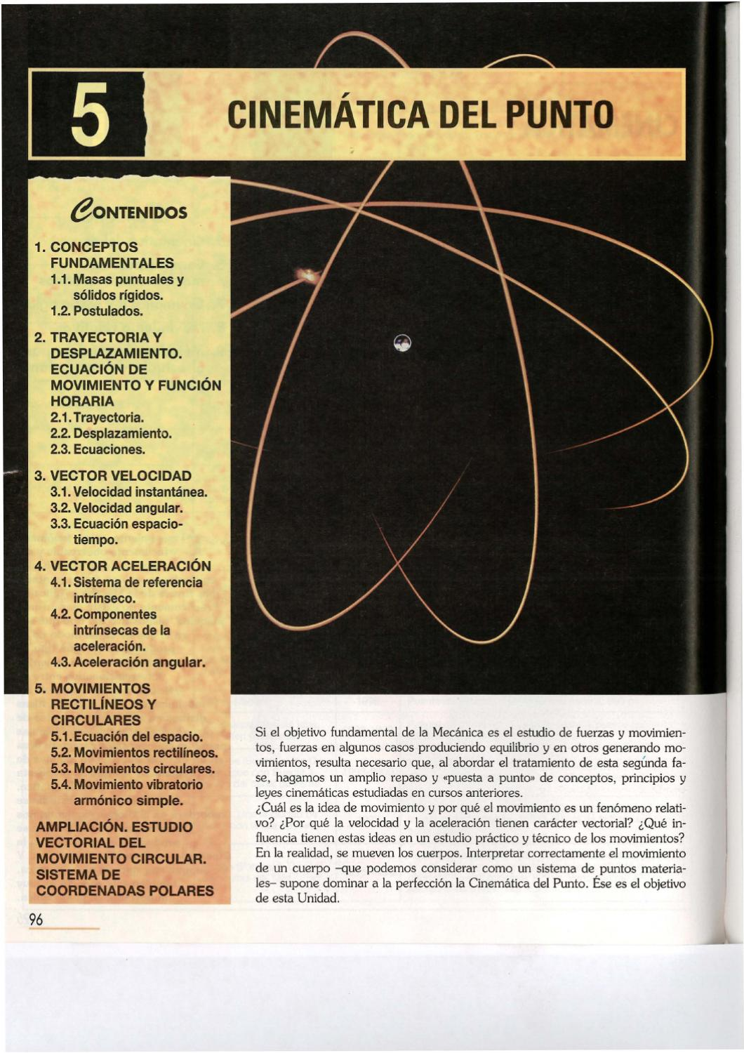 05 CINEMATICA DEL PUNTO by Secundino Sáenz - issuu