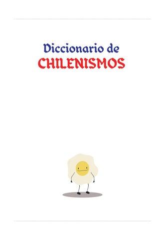 CHILENISMOS DICCIONARIO PDF
