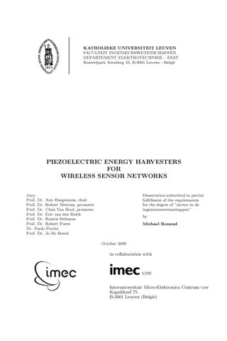 thesis on piezoelectric harvester