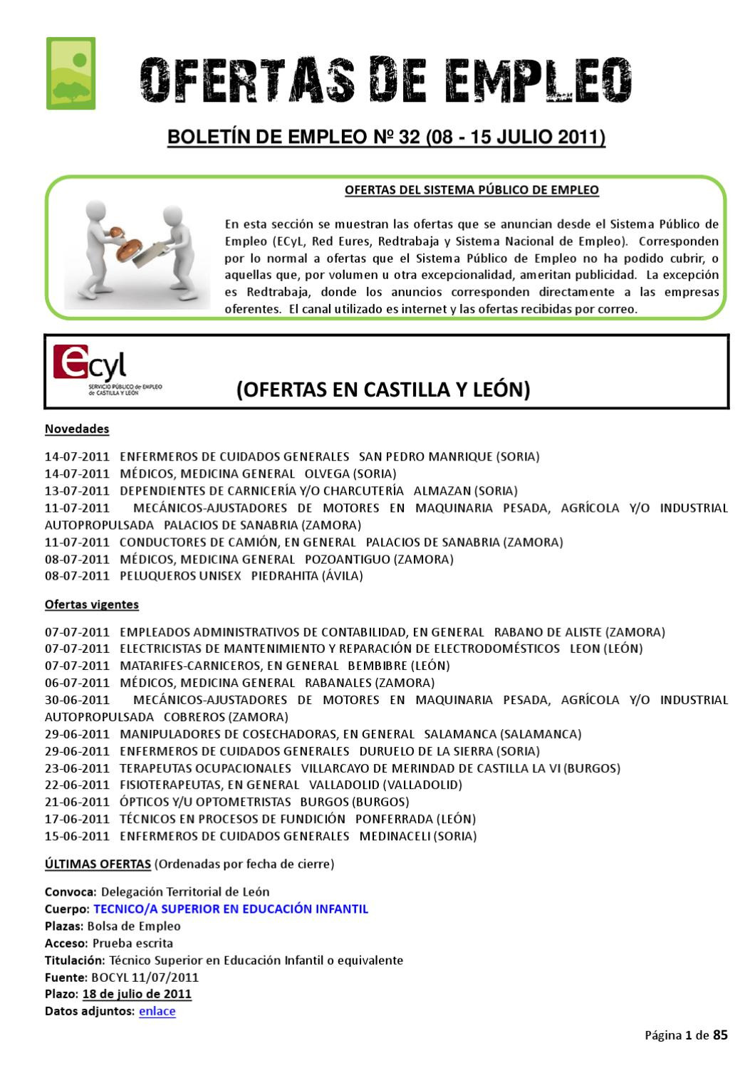 BOLETIN EMPLEO Nº 32 (15/07/2011) by AEDL MIC - issuu