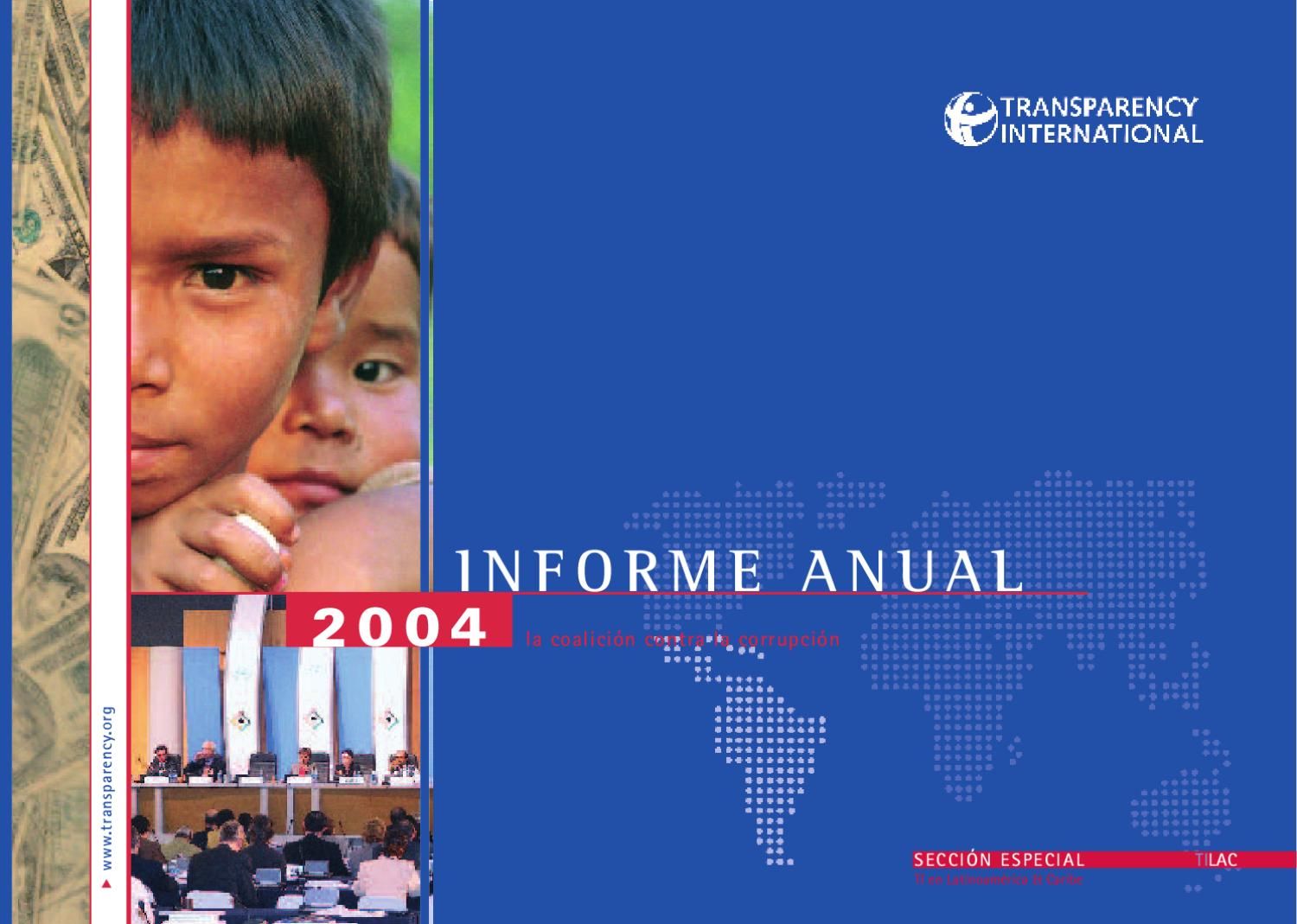 Informe Anual 2004 By Transparency International Issuu