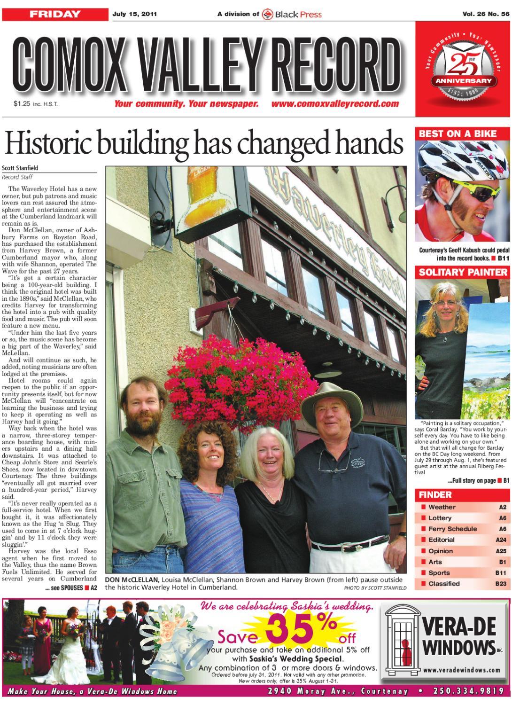 Fri July 15 2011 Comox Valley By Comox Valley Record Newspaper Issuu