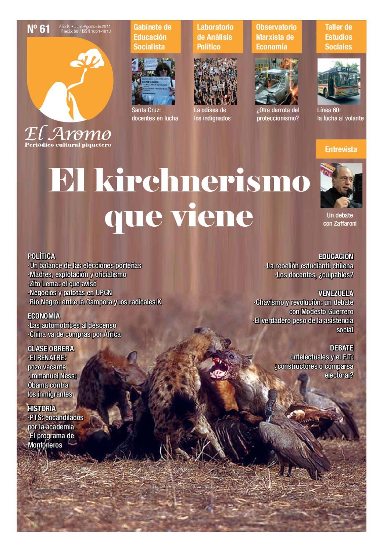 El Aromo Nro 61 El Kirchnerismo Que Viene By Raz N Y Revoluci N  # Muebles Nadir Avellaneda