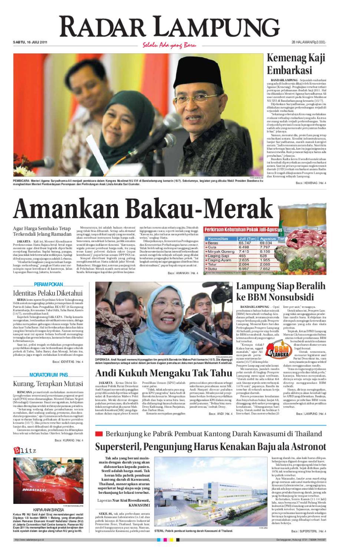 Radar Lampung Sabtu 16 Juli 2011 By Ayep Kancee Issuu Produk Ukm Bumn Kain Batik Middle Premium 3 Bendera 01