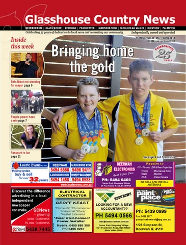 Edition 20 July 2011 By Glasshouse Country Amp Maleny News