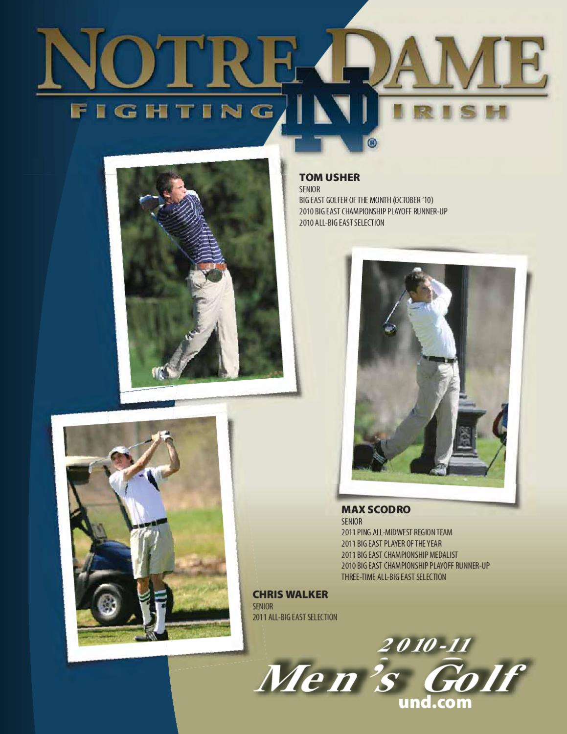 2010 11 notre dame men u0027s golf media guide by chris masters issuu