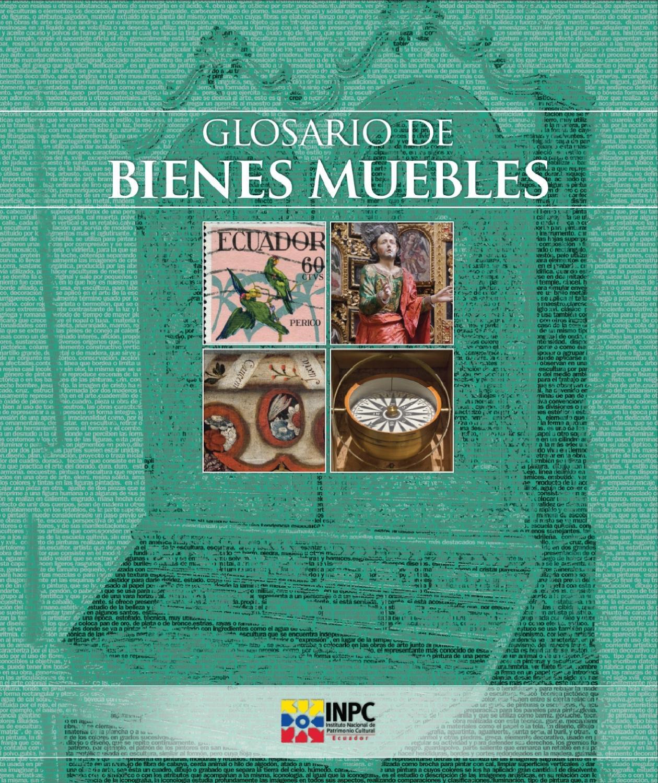 Glosario Bienes Muebles by INPC Ecuador - issuu 69fb13184e0