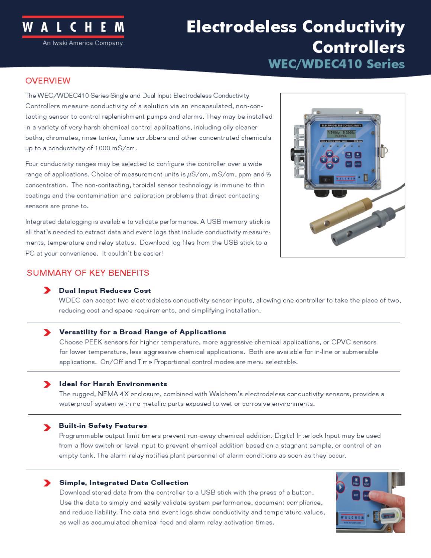 Walchem-Electrodeless-Conductivity-Controller