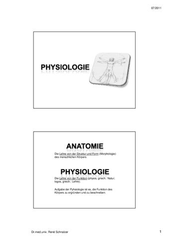 Physiologie 1 by Dr.med.univ.R. Schnalzer - issuu
