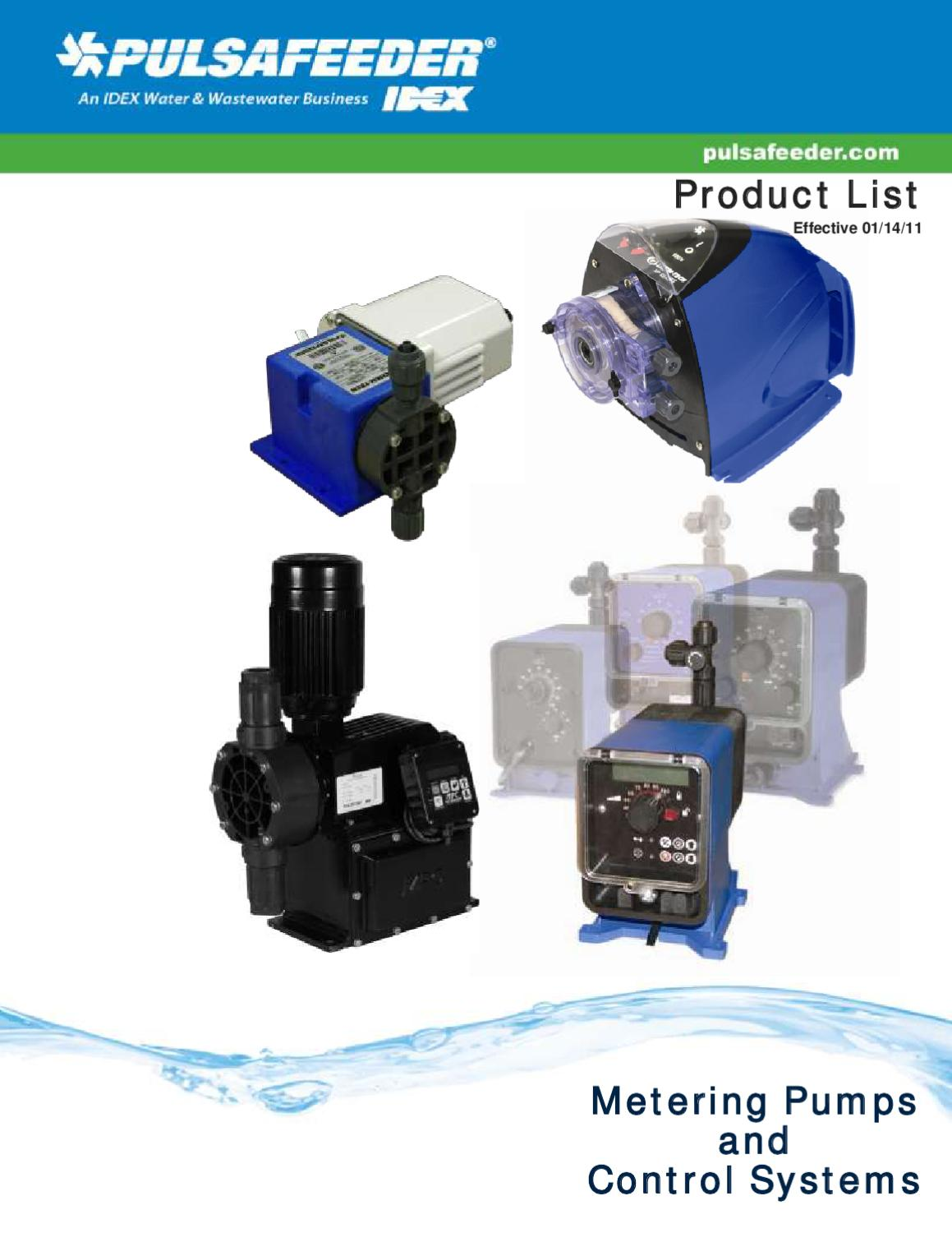 Pulsafeeder-Metering-Pumps-Product-List by Aqua Technology Group - issuu