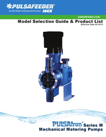 Pulsafeeder-Series-M-Product-List by Aqua Technology Group