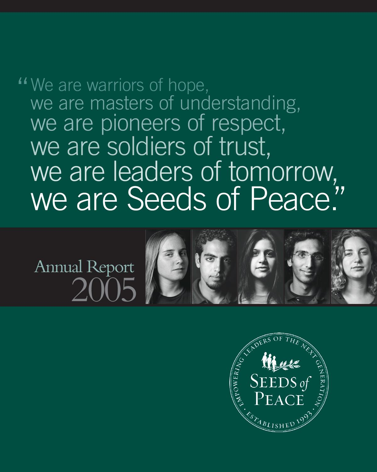AnnualReport05-06 by Seeds of Peace - issuu