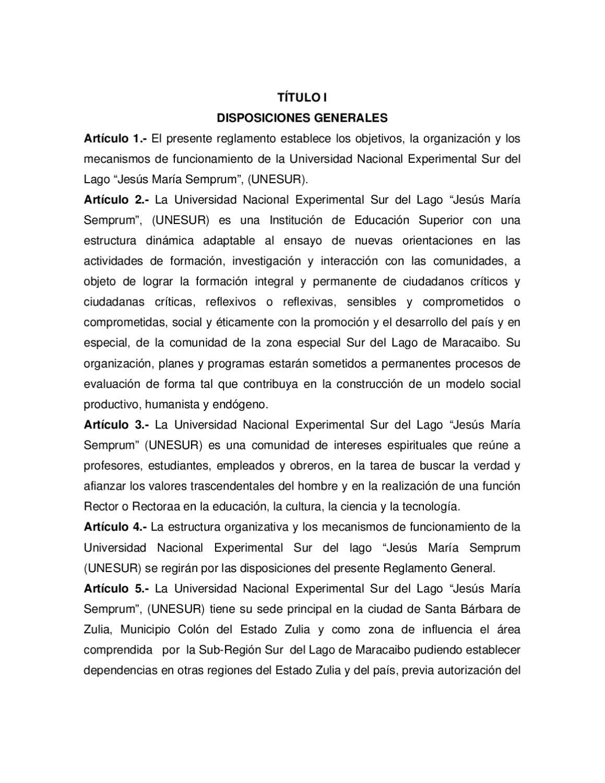 Reglamento de UNESUR by Yandy Yamig - issuu