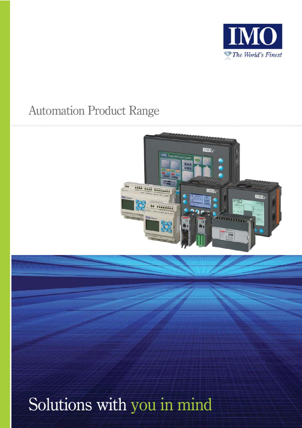 Imo Automation Products By Aqua Technology Group Issuu Relay Wiring Diagram