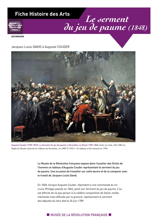 Le serment du jeu de paume by Direction de la culture et du patrimoine - Département de l'Isère ...