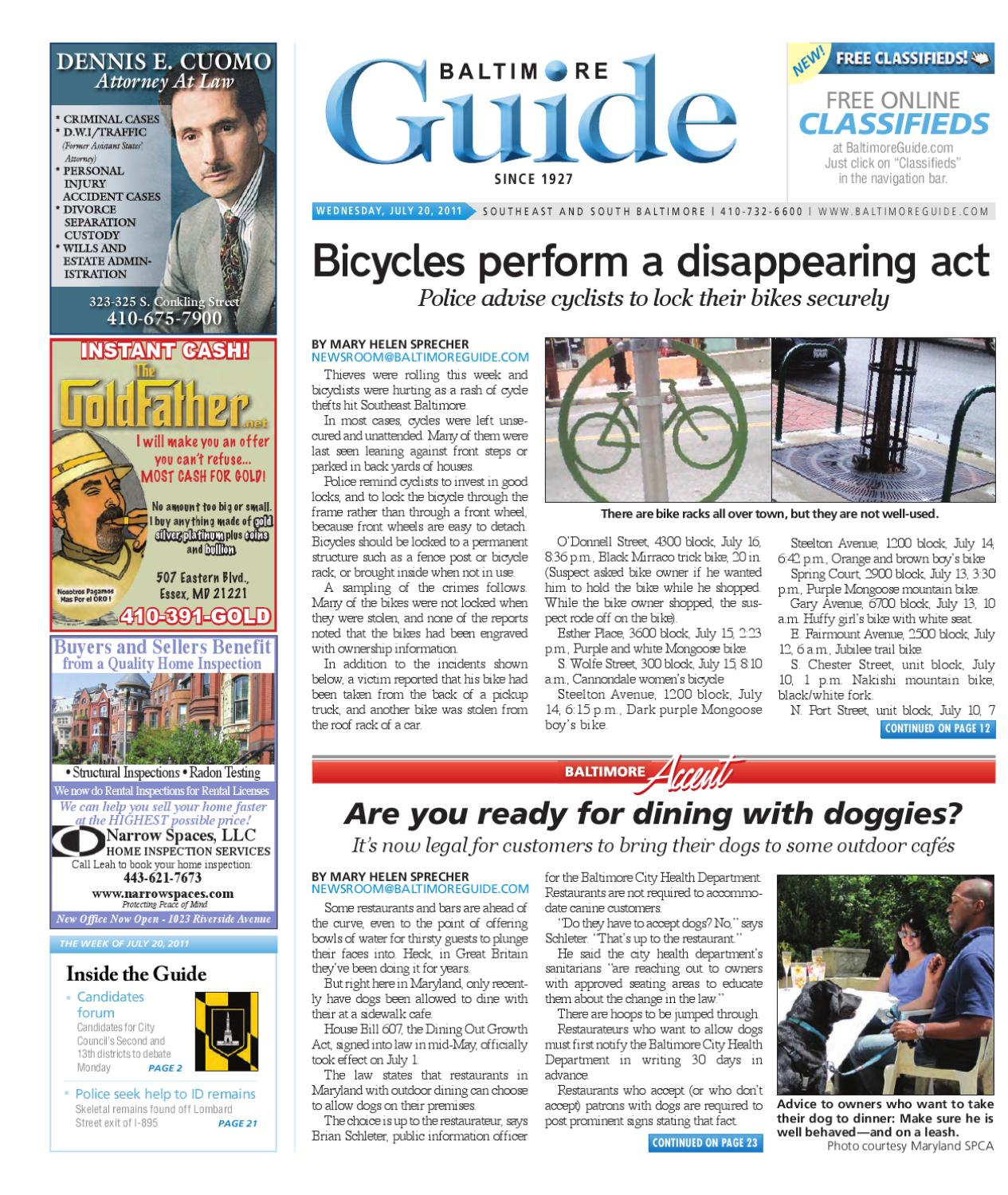 The Baltimore Guide - July 20, 2011 by The Baltimore Guide - issuu