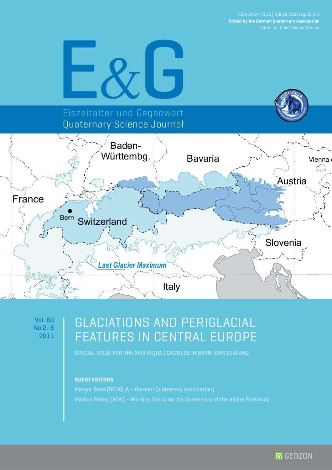 E&G – Quaternary Science Journal - Vol  60 No 2-3 by Geozon