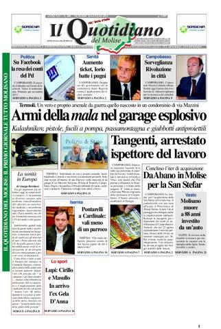 Il quotidiano del Molise del 22 luglio 2011 by Bruno Marrone - issuu 7def9c9f6e5e