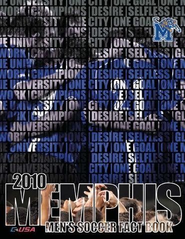 2010 Memphis Men's Soccer Fact Book by University of Memphis