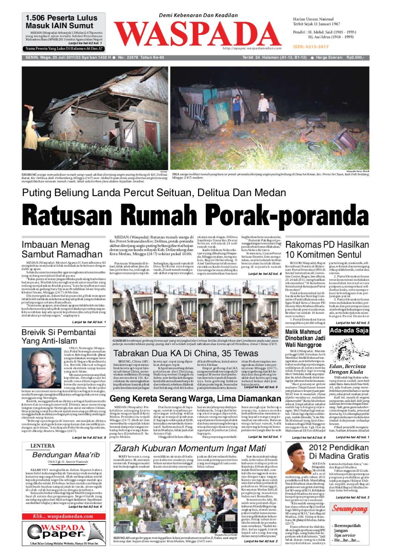 Waspada Senin 25 Juli 2011 By Harian Issuu Rkb Tegal Produk Ukm Bumn Emping Ubi
