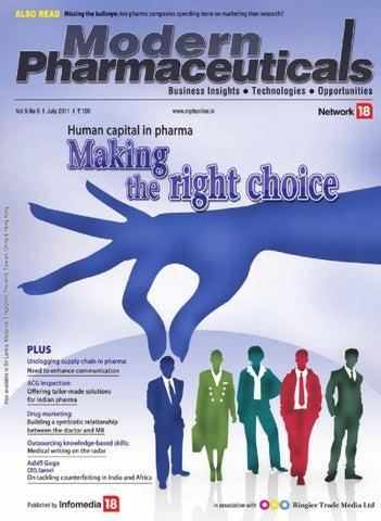 Modern Pharmaceuticals - July 2011 by Infomedia18 - issuu