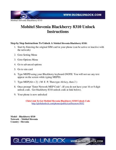 Page 1 Mobitel Slovenia Blackberry 8310