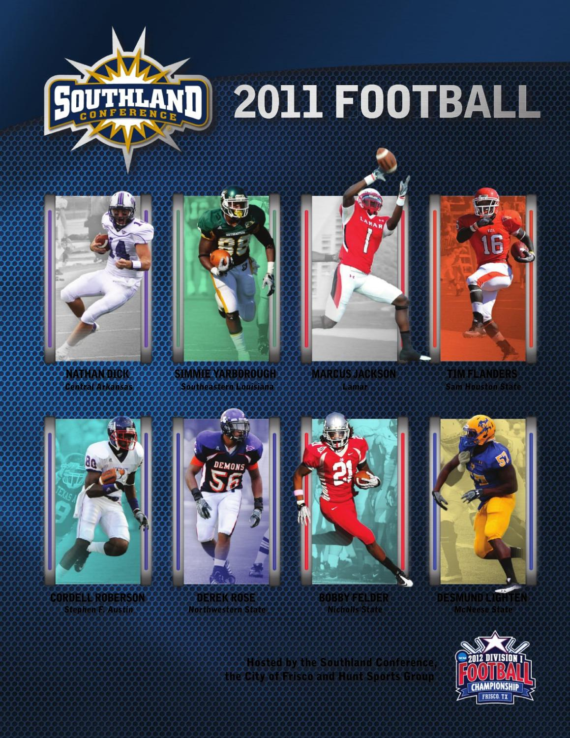 2011 Southland Conference Football Guide by Southland Conference - issuu 634e91eee