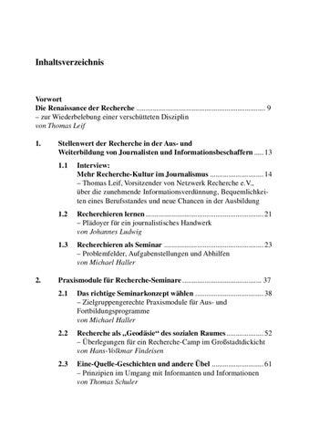Trainingshandbuch Recherche: Informationsbeschaffung professionell ...