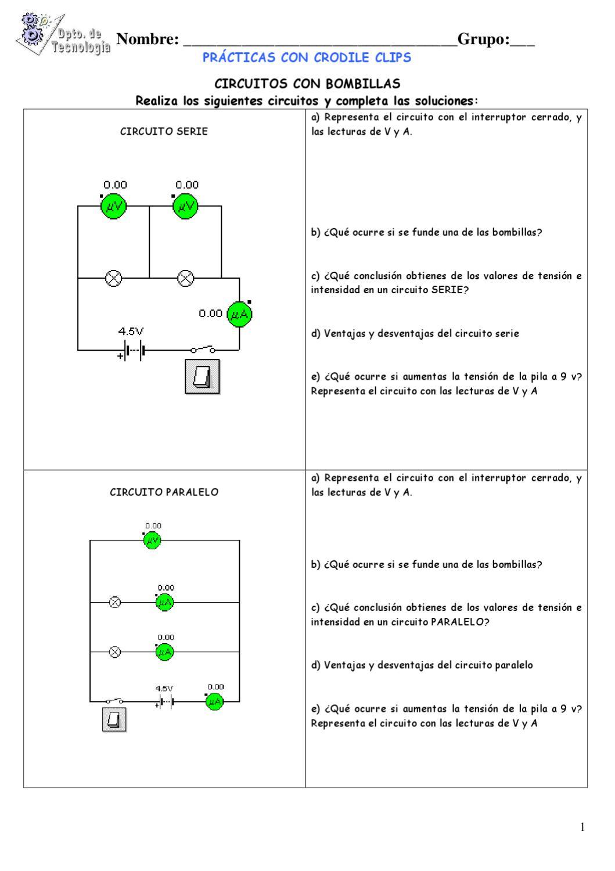 Circuito Serie Y Paralelo : Prácticas crocodile electricidad by javier lópez issuu