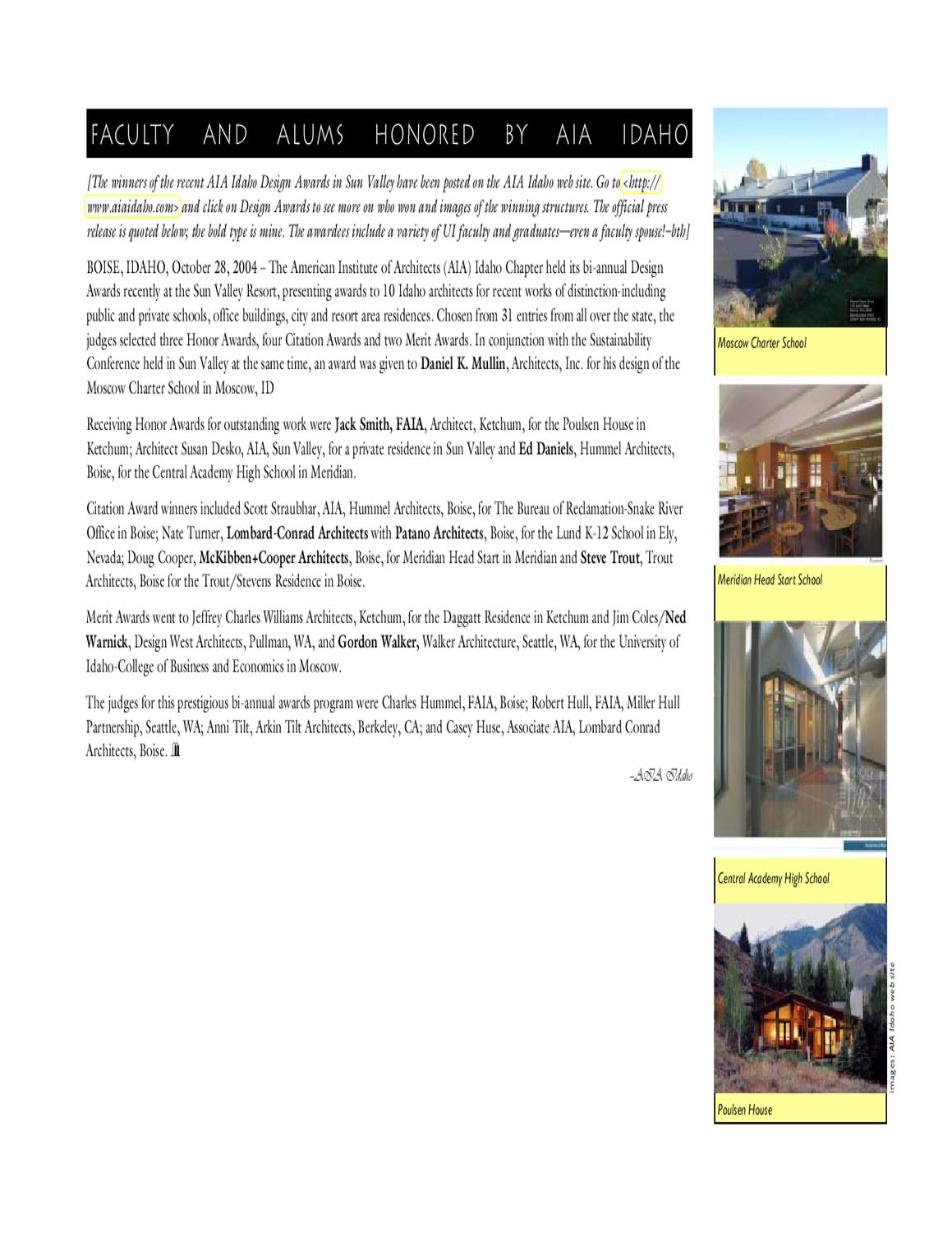 Architecture & Interior Design Fall 2004 Newsletter by The