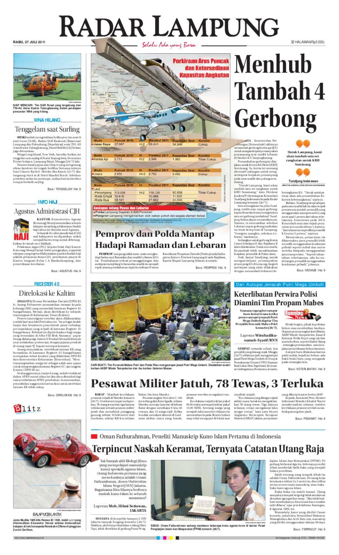 Radar Lampung Rabu 27 Juli 2011 By Ayep Kancee Issuu Meisa Bulu Mata Palsu Tipe Ren Bawah