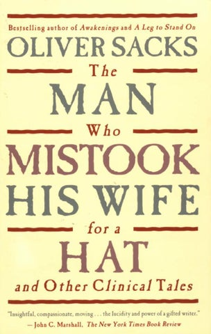 The Man Who Mistook His Wife For A Hat By John Oliveros Issuu