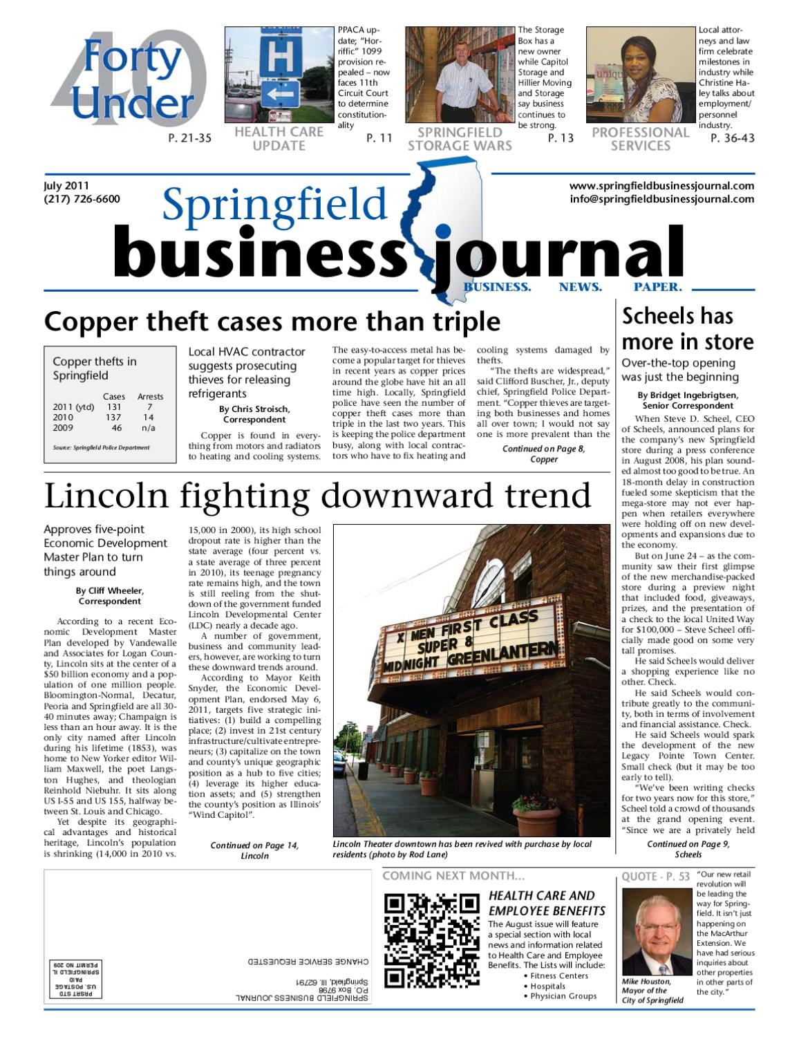 Springfield Business Journal July 2011 Il By Goweb1 Xl Data Hotrod Rp 220000 Issuu