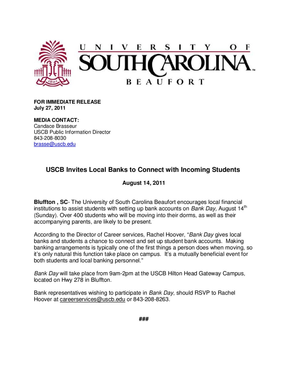 University of south carolina hook up