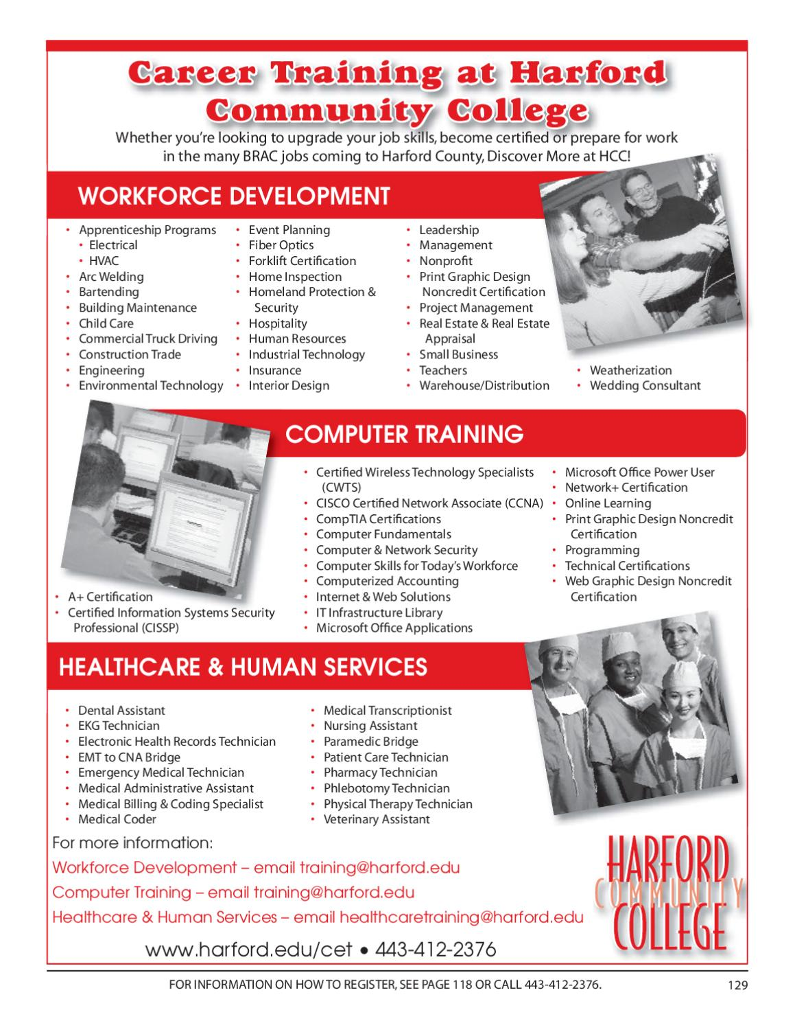 Hcc Fall Noncredit Schedule By Harford Community College Issuu